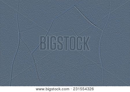 Abstract Geometric Grainy Background In Blue Color From Sheets Of Thick Paper, Cardboard. Suitable A