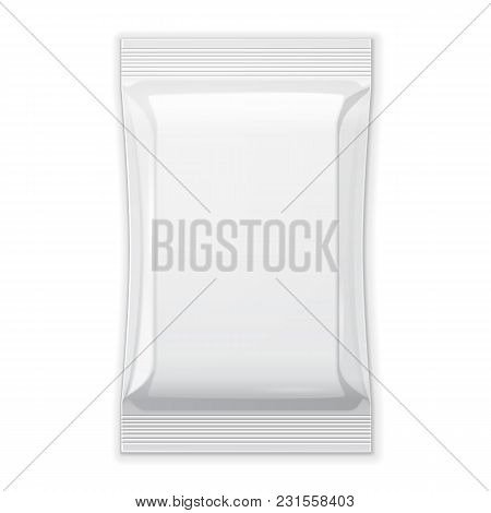White Blank Foil Food Snack Sachet Bag Packaging For Coffee, Salt, Sugar, Pepper, Spices, Sachet, Sw