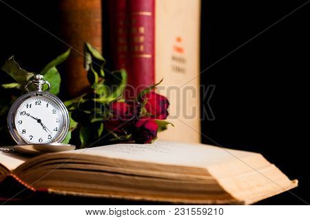 Antique Books And Roses Images Illustrations Amp Vectors
