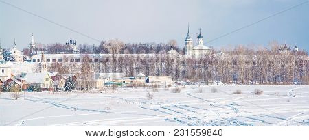 Gold Ring Of Russia. View Of Suzdal Temples And Churches In Winter