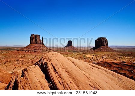 Monument Valley Is A Region Of The Colorado Plateau Characterized By A Cluster Of Vast Sandstone But