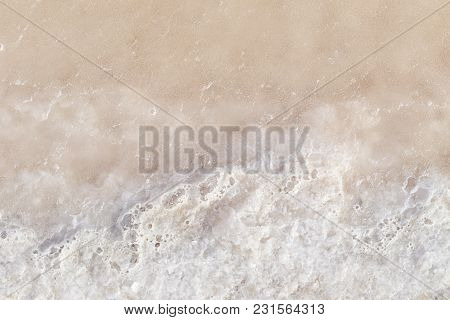 Texture Of Raw Salt Under Sea Water In Evaporation Ponds Process At Phetchaburi Province,thailand (