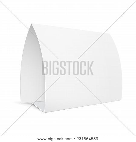 Plate Advertising Pos Poi Stand Banner. Illustration Isolated On White Background. Mock Up Template