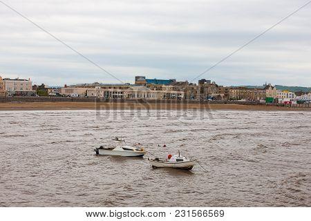 Weston-super-mare Harbour And Coastline, Somerset, Western  England