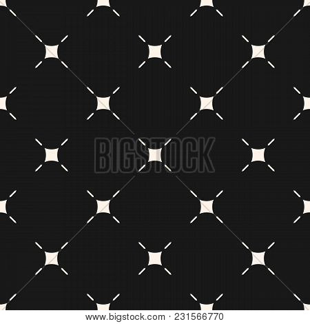 Vector Minimalist Background. Simple Modern Geometric Seamless Pattern With Thin Lines, Rounded Squa