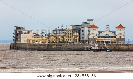 Knightstone Island At  Weston-super-mare Harbour, Somerset, England