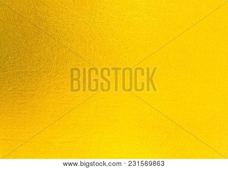 Abstract Background. Shiny Yellow Of Gold Foil Texture