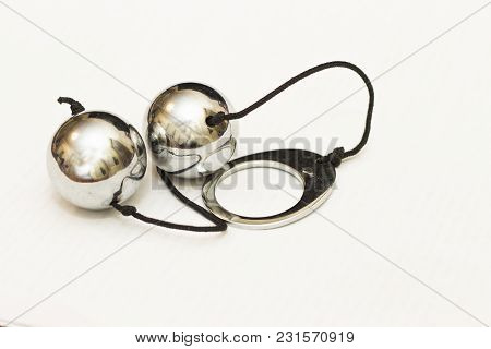 Vaginal Love Balls In Chrome Isolated On The White Background