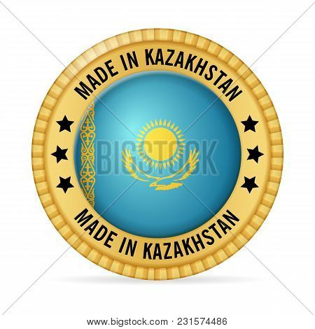 Icon Made In Kazakhstan On A White Background.