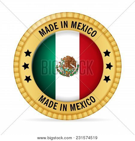 Icon Made In Mexico On A White Background.