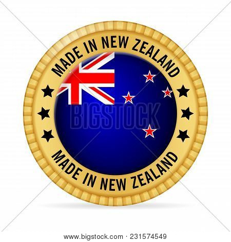 Icon Made In New Zealand On A White Background.