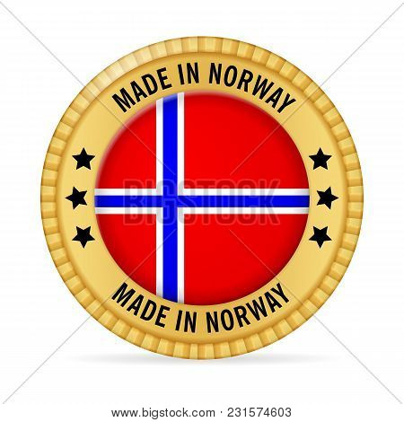 Icon Made In Norway On A White Background.