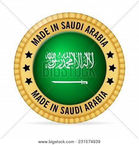 Icon Made In Saudi Arabia On A White Background.