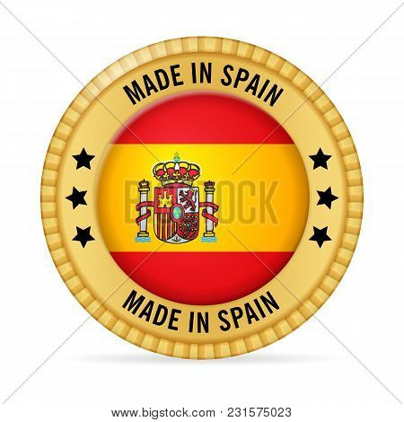 Icon Made In Spain On A White Background.