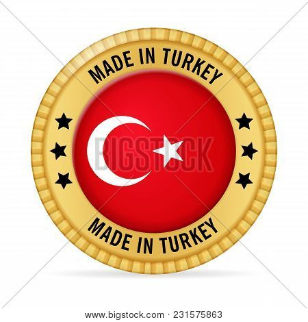Icon Made In Turkey On A White Background.