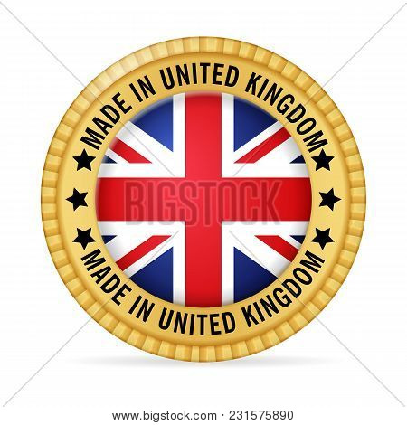 Icon Made In Uk On A White Background.