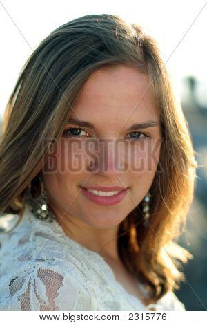 Nice Portrait Of Happy Teen Girl