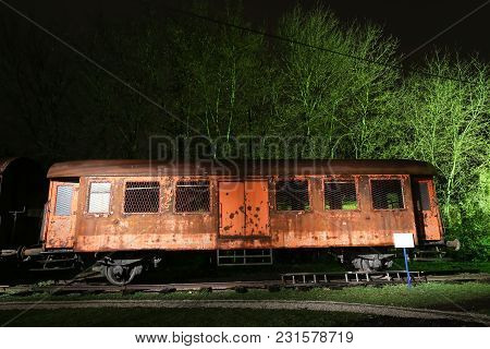 Zagreb, Croatia - December 13th, 2017: Advent Time At The Croatian Railway Museum In Zagreb. The Pas