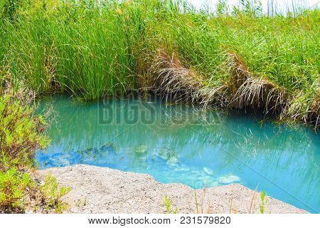 The Natural Source Of Drinking Healing Water In Kaifas, Greece.