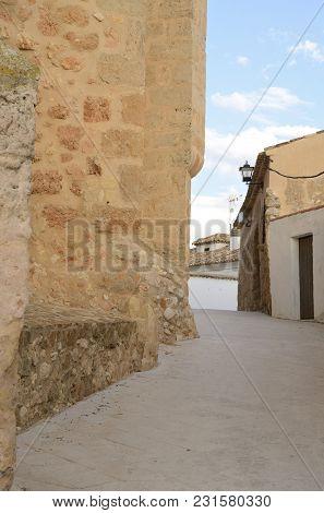 Alley In The Village Of Belmonte, Province Of Cuenca, Spain.
