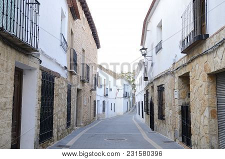 Street In The Village Of Belmonte, Province Of Cuenca, Spain.