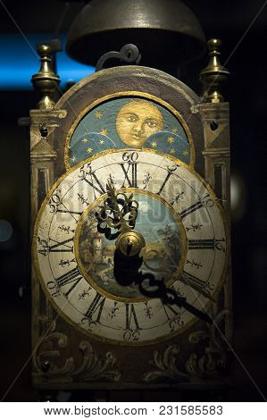 The Ancient Renaissance Clocks With Moon Face