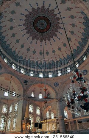 Istanbul, Turkey - March 24, 2012: The Dome Of The Eyupa Mosque.