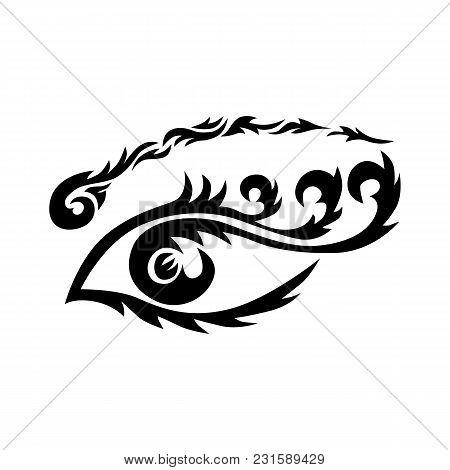 Eye Tattoo. Maori Tribal Tattoo - Eye Vector Tribal Tattoo In Polynesian Style. Celtic Ornament In T