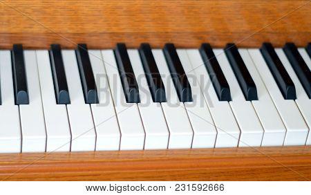 Ascending Angled Black And White Piano Keys
