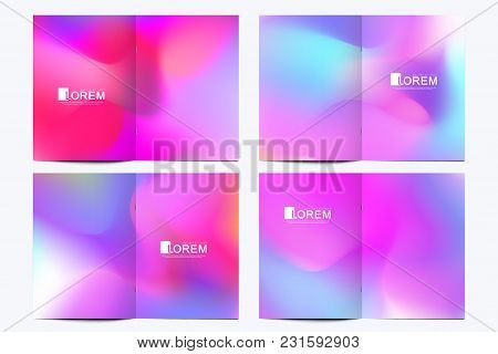 Modern Vector Set For Brochure Leaflet Flyer Advert Cover Catalog Magazine Or Annual Report.. Abstra