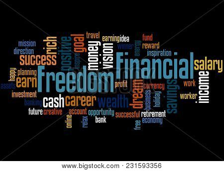 Financial Freedom Word Cloud Concept 2