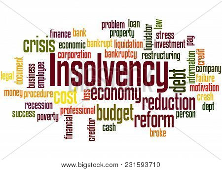 Insolvency Word Cloud Concept 3