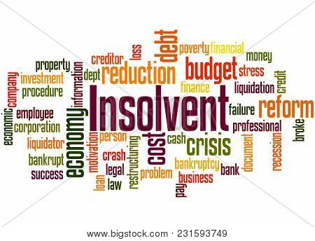 Insolvent Word Cloud Concept