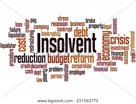 Insolvent Word Cloud Concept 3
