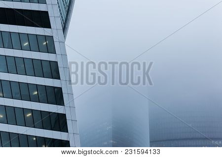 Moscow, Russia - December 29, 2017 Foggy Weather In Moscow, Capital City Of Russia.close-up View Of