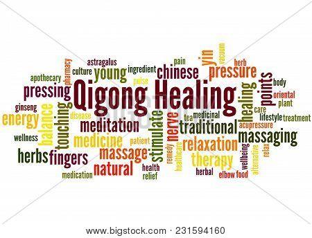 Qigong Healing Word Cloud Concept