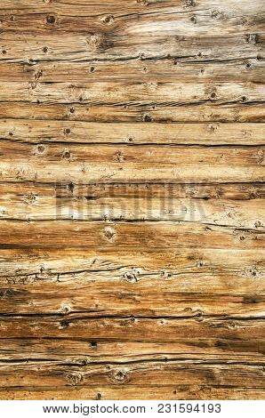 Aged Wooden Planks Texture Worn Down By The Sun And Water