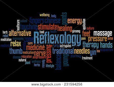 Reflexology Word Cloud Concept 2