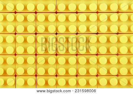 Surface Of Yellow Toy Blocks For Backgrounds