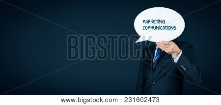 Marketing Specialist With Marketing Communications Text On Speech Bubble.