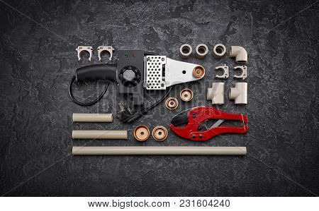 Soldering Iron For Pvc Pipes, Pipe Cutting Scissors, Plumbing Tools, Components For Water Supply, Au