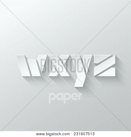 Letter W X Y Z Logo Alphabet Icon Paper Set Background 10 Eps