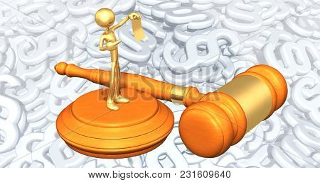 The Original 3D Character Illustration Holding Up Evidence Law Concept