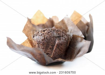 Chocolate Cupcake - On A White Background