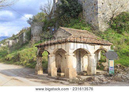 Old Fountain In Kayakoy (karmylassos) Old Greek Village In Fethiye, Turkey