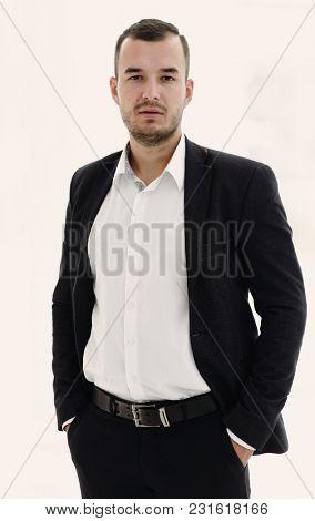 portrait of modern business man.