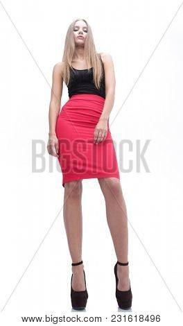 portrait in full growth.stylish young woman