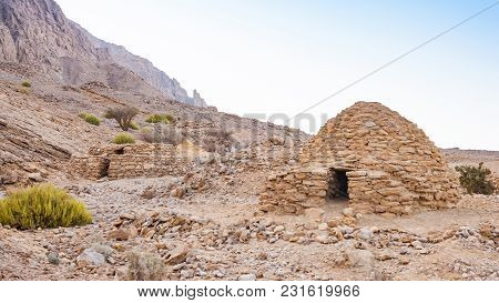 The Jebel Hafeet Tombs Are 5,000 Year Old Beehive Tombs Composed Of Stacked Natural And Edged Stones