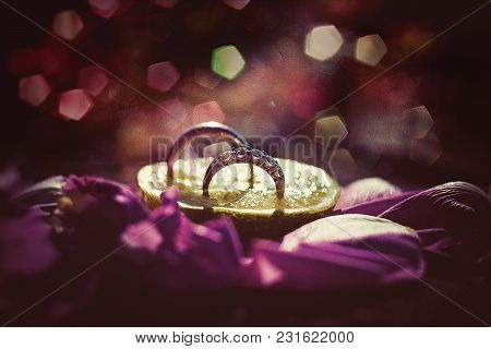 Wedding Rings And Symbol Celebration Creative Picture