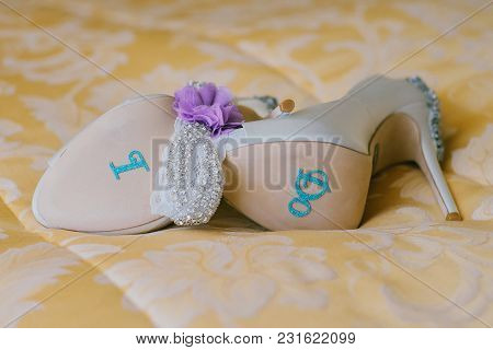 Female Wedding Shoes Footwear Creative Picture Glamour, Luxury, Celebration